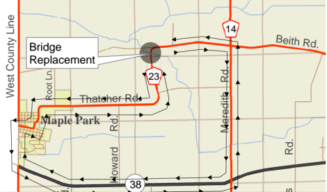 Map courtesy of the Kane County Division of Transportation.
