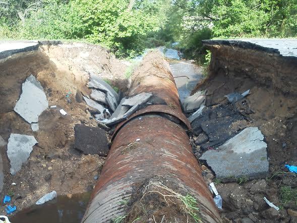 sinkhole in Burlington